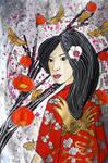 Scarlet kimono