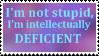 Not STUPID stamp by HybridYuki