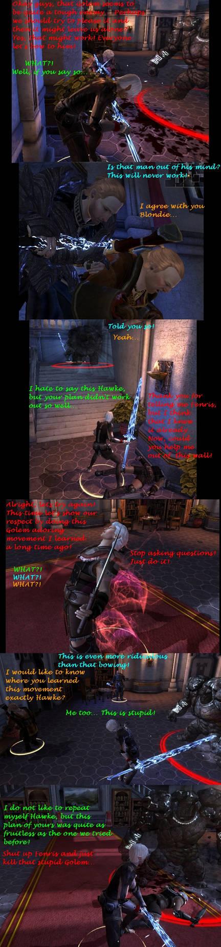 Hawke's weird Golem ritual