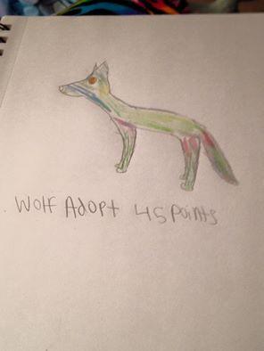 Wolf Adopt by TheBlackRose34