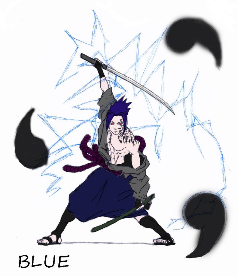 Blue Sasuke CHIDORI By Cloudutchiha On DeviantArt