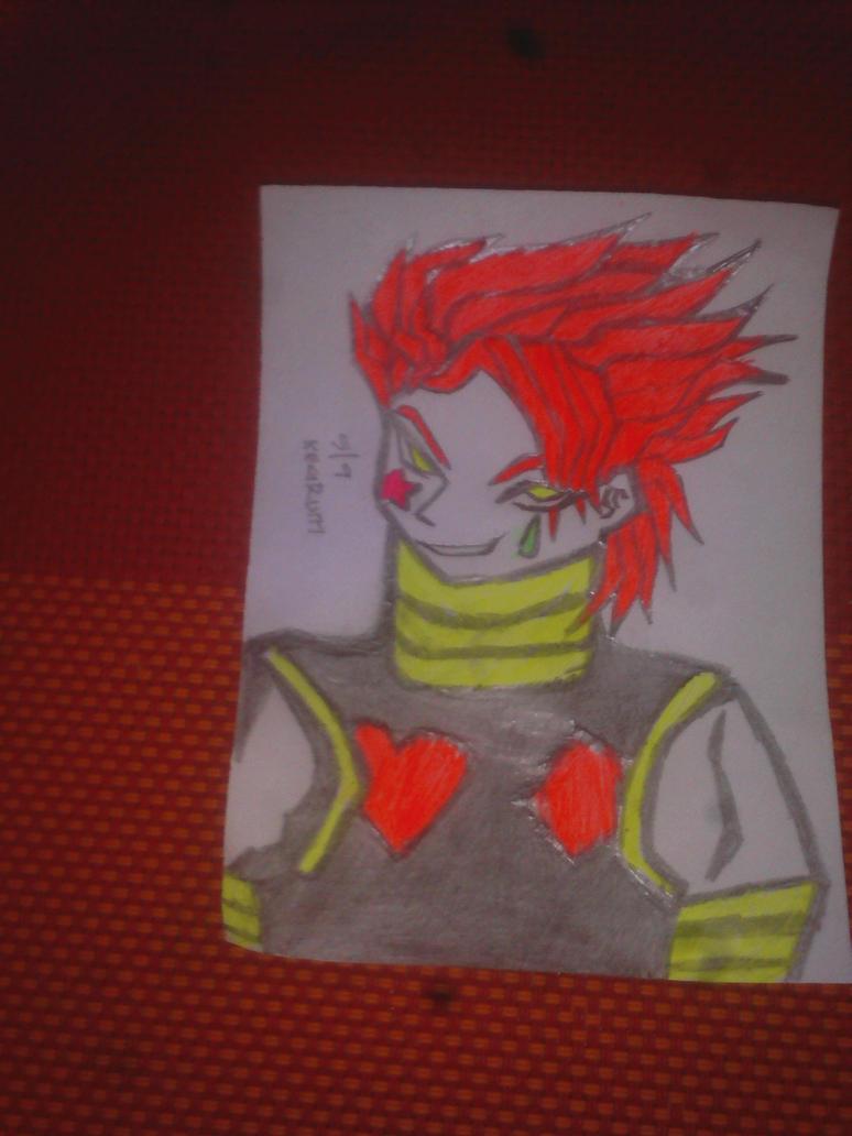 Hisoka pencil sketch by demonicbeast696