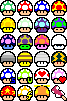 8 bit mushrooms by Mikarda