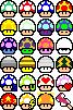 8 bit mushrooms by Mikarda
