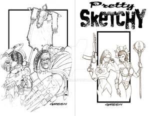 Pretty Sketchy (sketch book eccc2k12) sans color