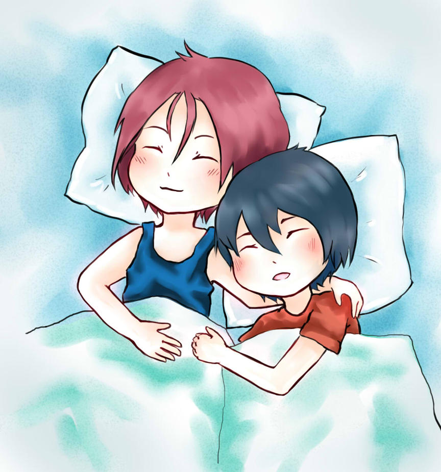 Rin and Haru by kajalla