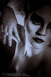Black Swan Portrait by Catherine-Di
