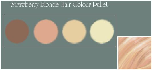Stawberry Blonde Colour Pallet By Thecostumer On Deviantart