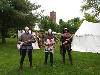 Crossbowmen in training by SpeculumHistoriae