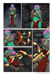 Comision Sophie and adventures in the dungeon p1