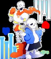 Skeleton Bros by Bluyumu