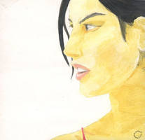 another watercolor girl by budimanraharjo