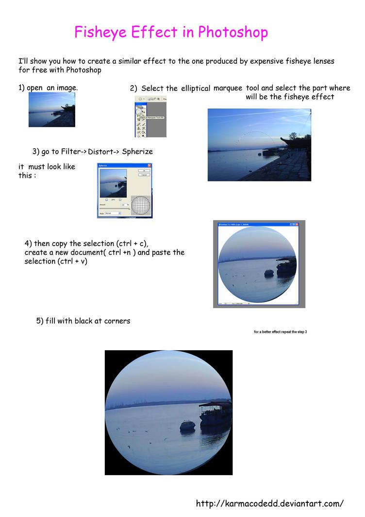 Fisheye effect in photoshop by karmacodedd