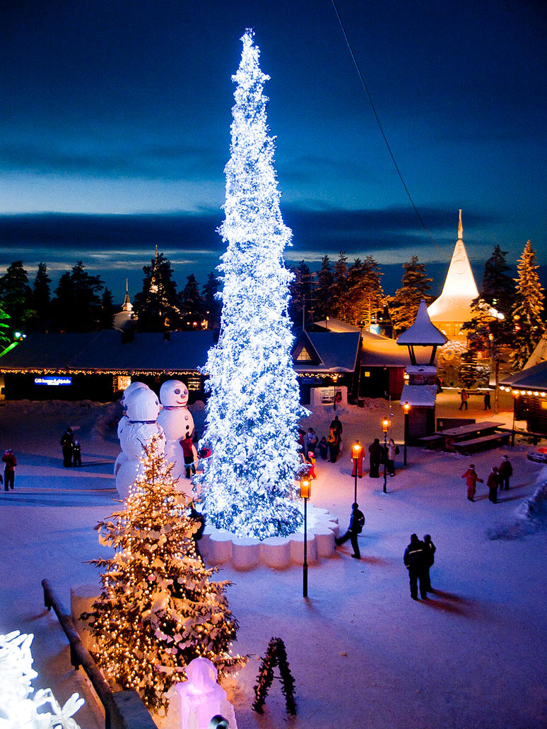 Santa Claus Village By Tressi