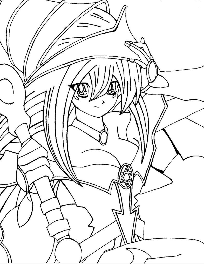 dark magician girl coloring pages - photo#13