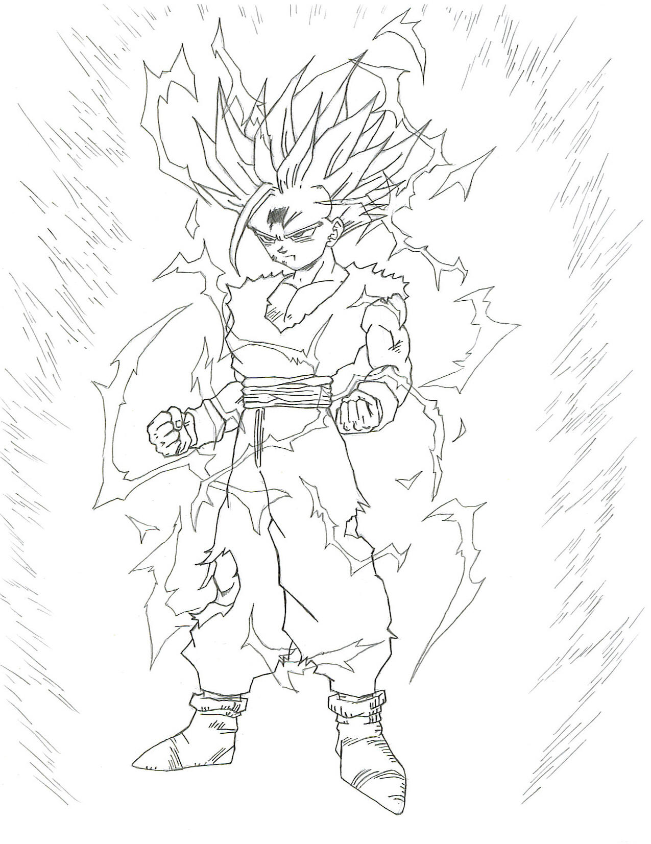 pin gohan dbz coloring pages 2 foot on pinterest