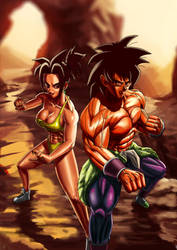 Kefla And Broly by EliteNappa