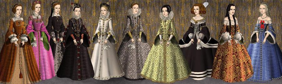 Queens of Spain (Austria's house) by LadyBolena