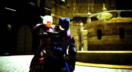 Wolf and Yuki by TheMidnightBlackCat