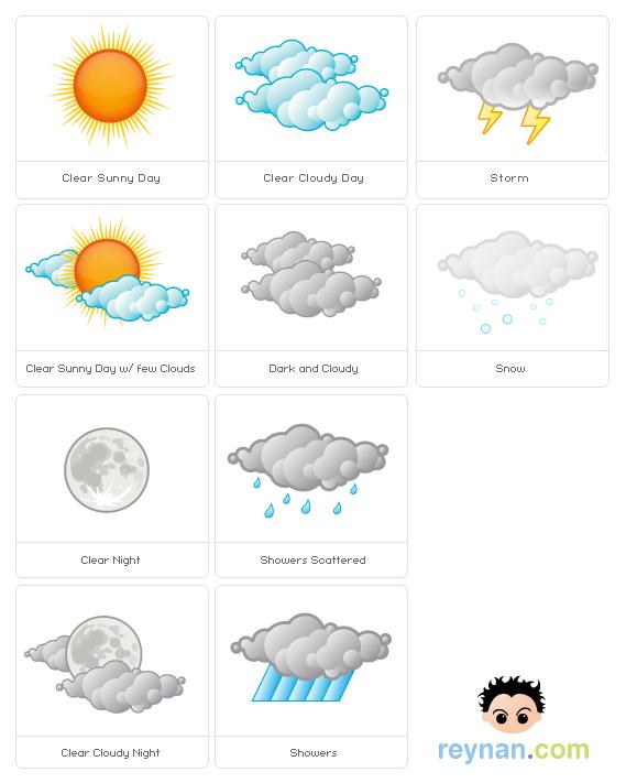 Иконки погоды даром.
