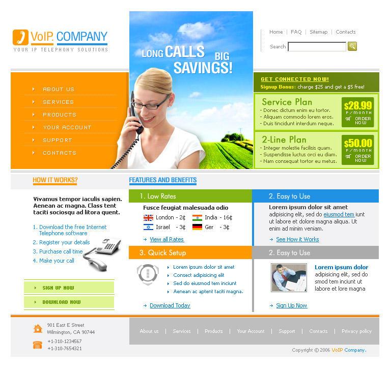 VoIP Website Sample by rheyzer