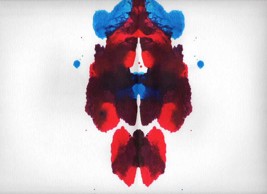 Spidey Rorschach by xtrmquestion