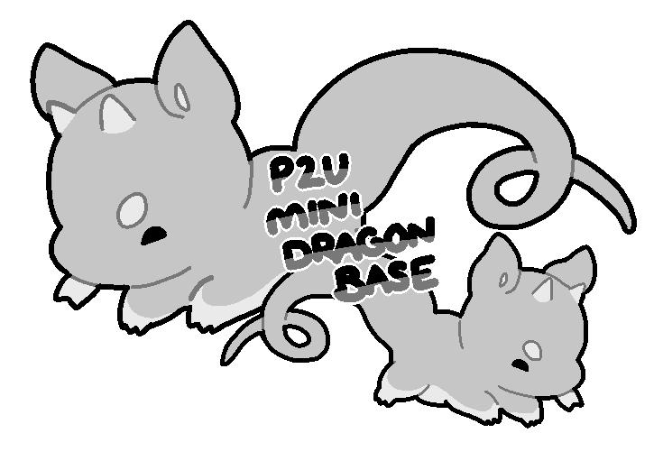 Line Art Dragon : P u smol dragon base by toripng on deviantart