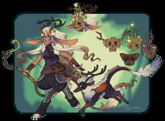 Kirin-Satyr Huntress by toripng