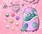[Closed] Pacapillars Spring Sights Gacha by toripng
