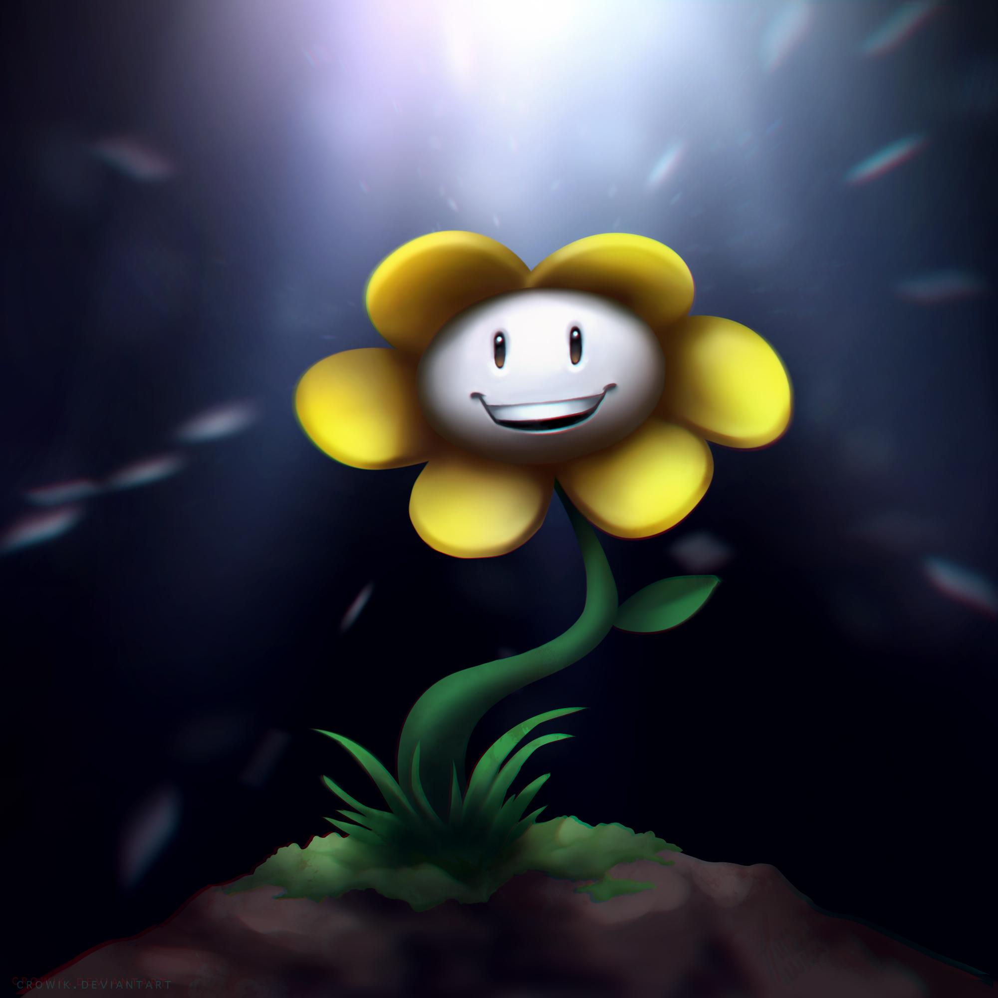 Flowey the flower by Crowik on DeviantArt
