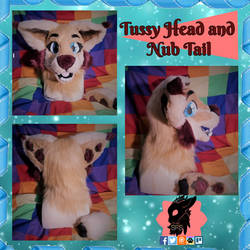 Tussy Furred Head and Nub Tail by SamTheMoose101