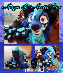 Aeryn Arctic Fox Head and Paws