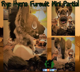 Rye Hyena Fursuit Mini Partial