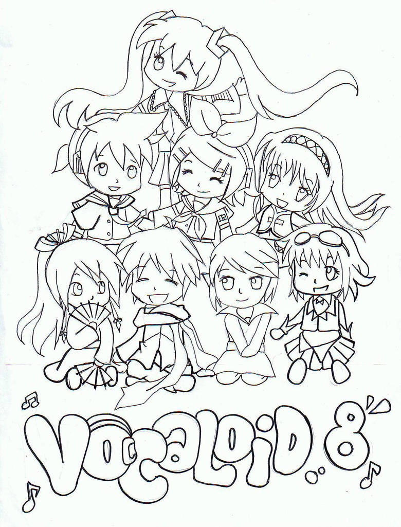 vocaloid seeu chibi coloring pages - photo#16