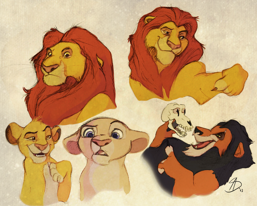 Lion King Sketches by Loryska