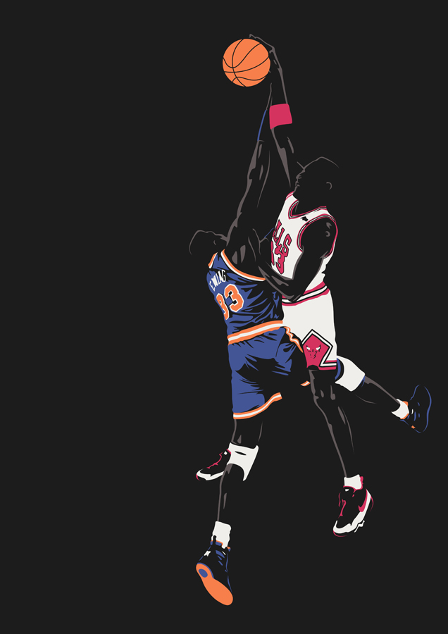 PIPPEN VS EWING by UCArts