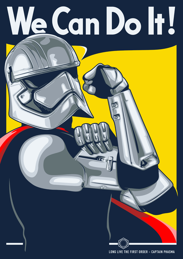 CAPTAIN PHASMA PROPAGANDA POSTER by UCArts