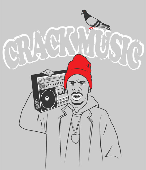 Crack Music T-shirt by UCArts
