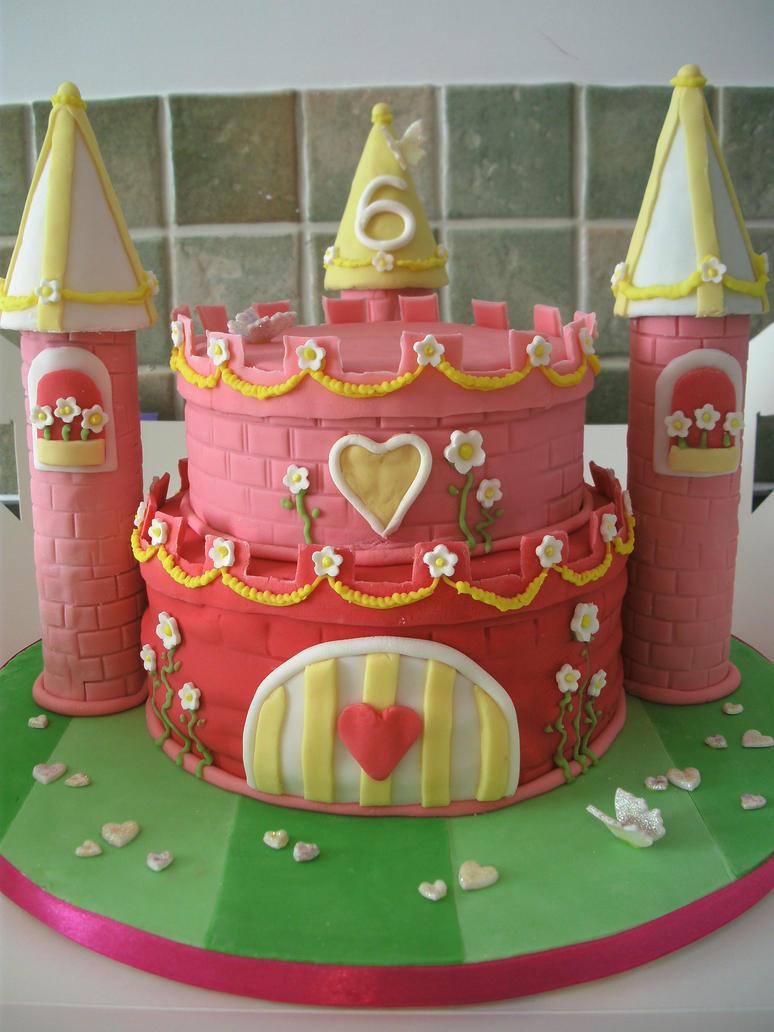 Princess Castle Cake by gertygetsgangster on DeviantArt