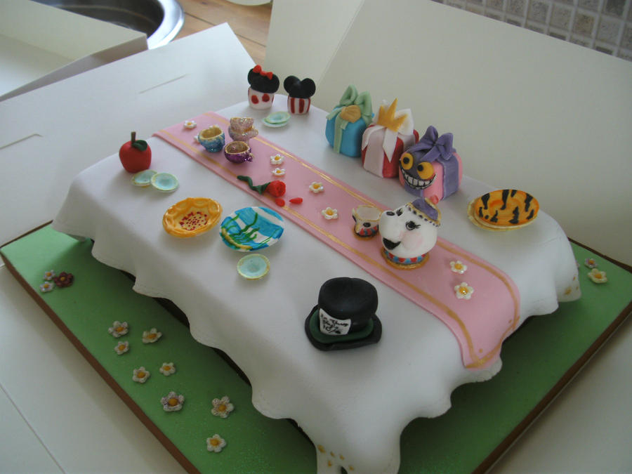 Disney Tea Party Cake by gertygetsgangster