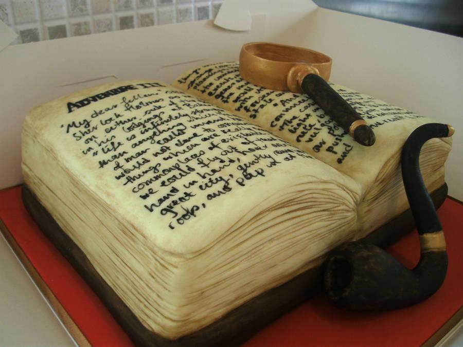 Sherlock Holmes Cake by gertygetsgangster