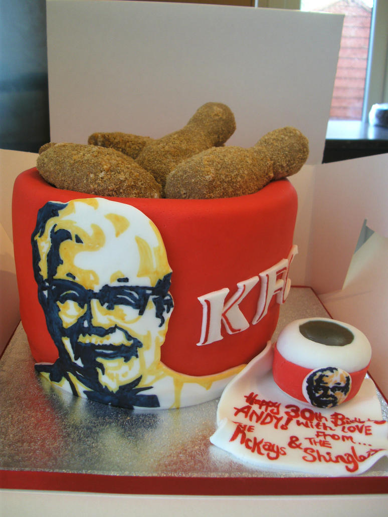 KFC Birthday Cake by gertygetsgangster