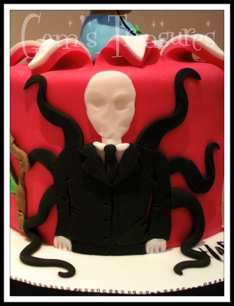 SLENDER MAN!!! PEWDIEPIE CAKE!!! by gertygetsgangster