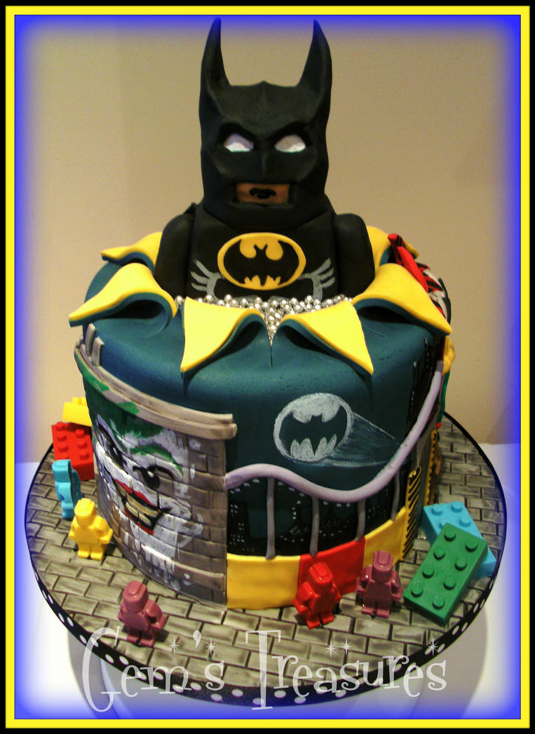 Lego Batman Cake With Edible Lego by gertygetsgangster on DeviantArt
