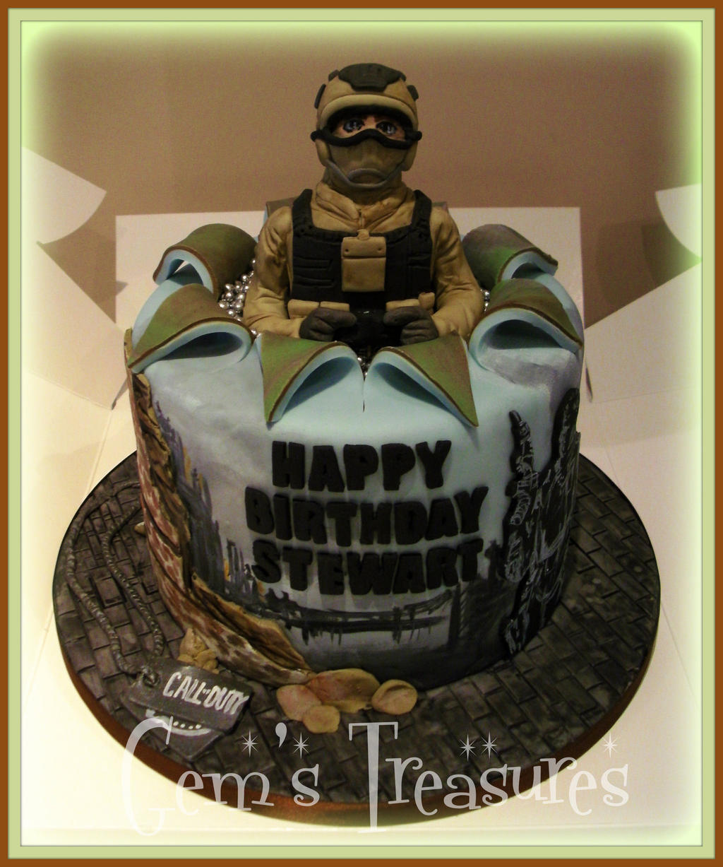 Call of duty cake by gertygetsgangster on deviantart for Black ops 3 decorations