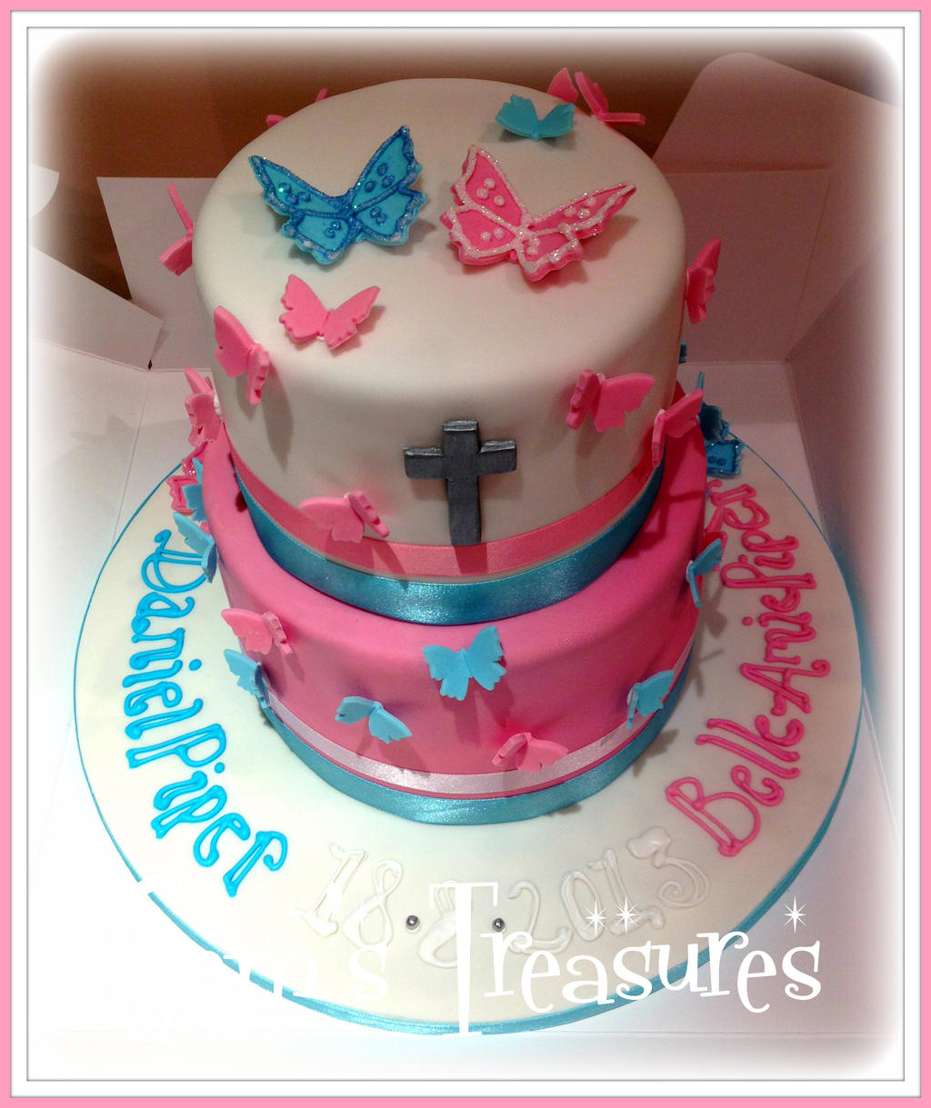 Father Daughter Christening Cake by gertygetsgangster on DeviantArt