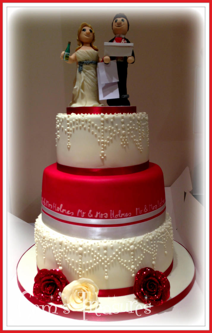 Gangster Wedding Cake Toppers