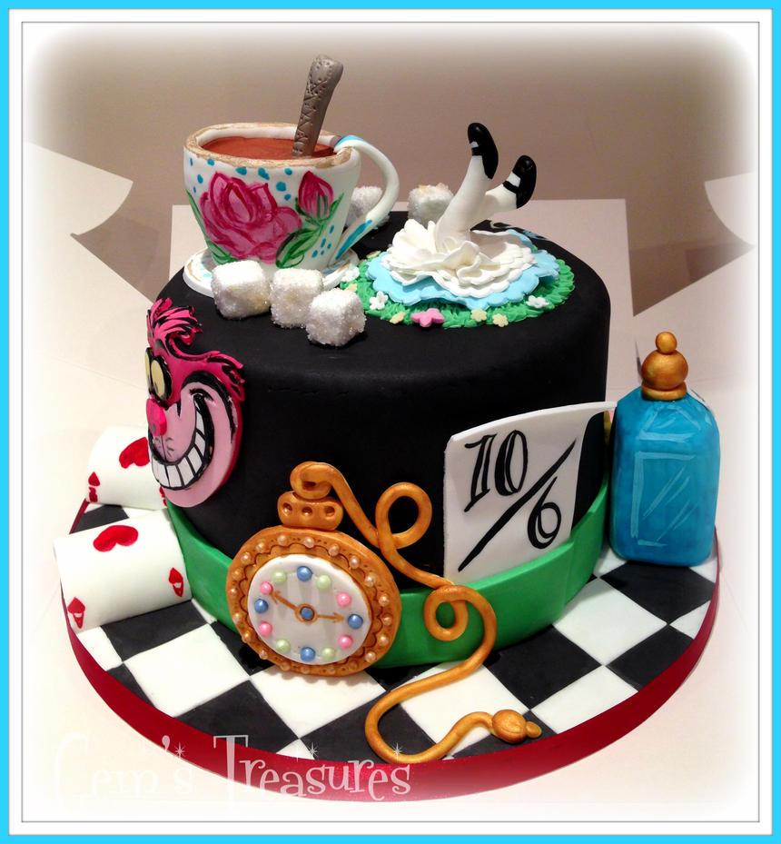 Alice In Wonderland Cake By Gertygetsgangster On Deviantart