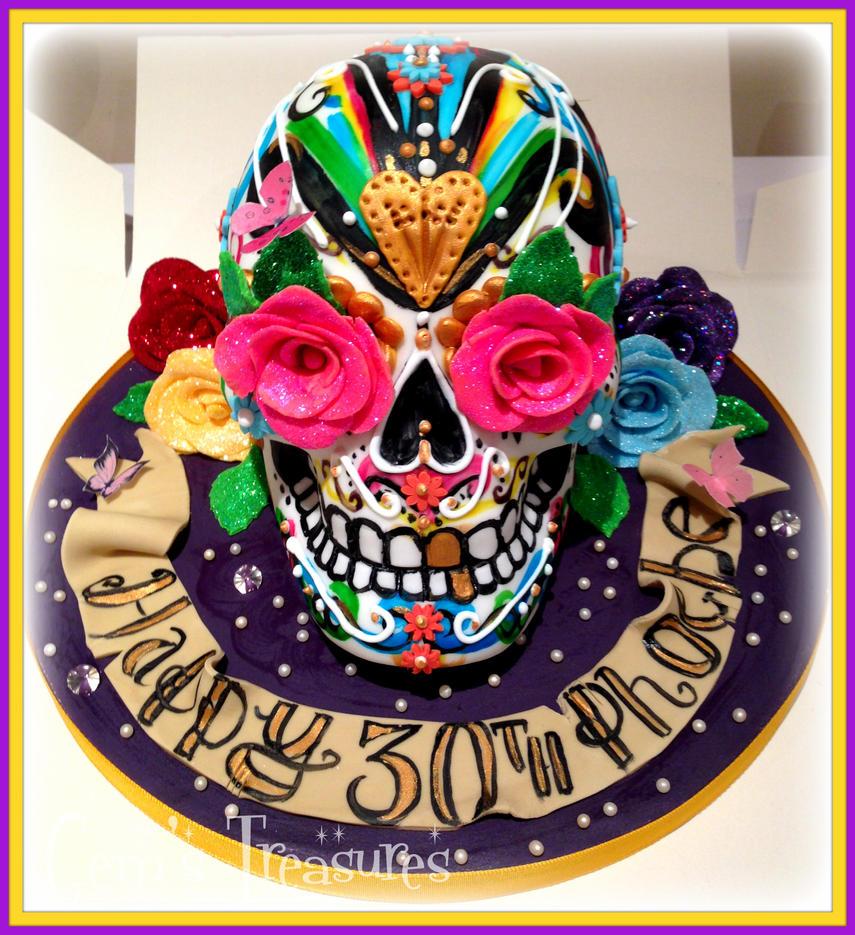 Phoebe's Birthday Skull by gertygetsgangster