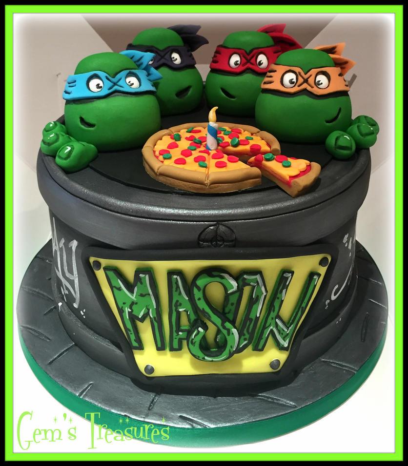 TMNT Cake by gertygetsgangster